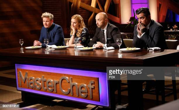 Host / Judge Gordon Ramsay judge Christina Tosi guest judge Joe Bastianich and judge Aaron Sanchez in the allnew The Finale Pt 1/The Finale Pt 2...