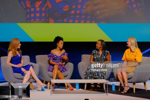 Host Julia Boorstin actress Kerry Washington Chief Marketing Officer Stitch Fix Deirdre Findlay and Chief Marketing Officer of Hulu Kelly Campbell...