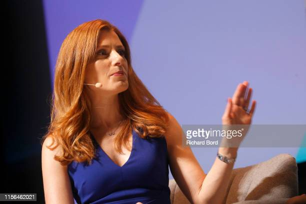 Host Julia Boorstin speaks on stage during the Hulu session at the Cannes Lions 2019 Day One on June 17 2019 in Cannes France