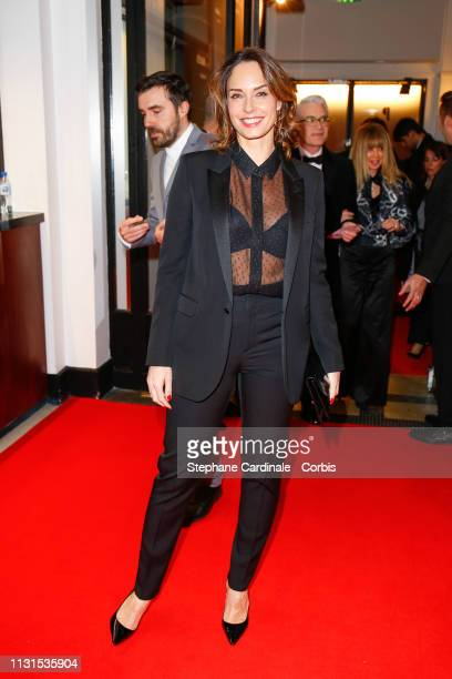 Host Julia Vignali attends the Cesar Film Awards 2019 at Salle Pleyel on February 22 2019 in Paris France