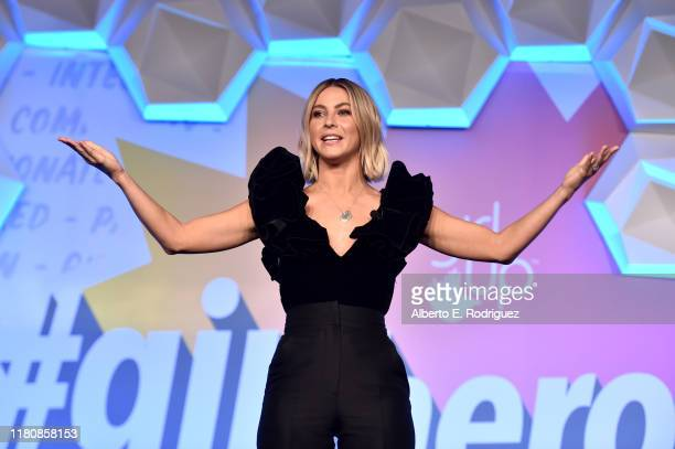 Host Julianne Hough speaks onstage at the 2nd Annual Girl Up #GirlHero Awards at the Beverly Wilshire Four Seasons Hotel on October 13 2019 in...