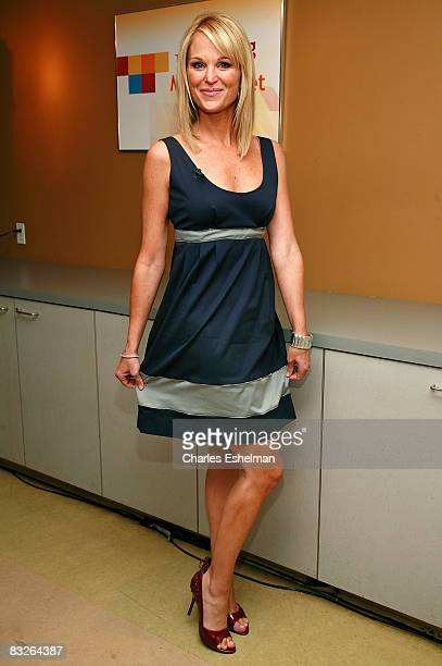 Host Juliet Huddy backstage at FOX's The Morning Show with Mike and Juliet at the FOX studios on October 14 2008 in New York City