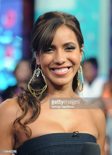 Host Julissa Bermudez at MTV's TRL at the MTV studios in Times Square on August 26 2008 in New York City