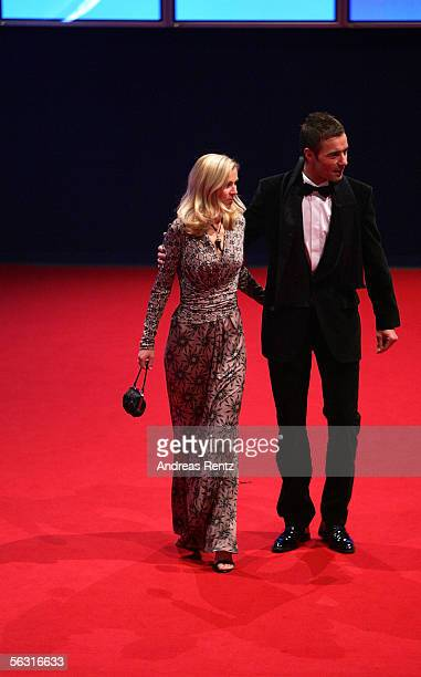TV host Kai Pflaume and his wife Ilke arrives for the 57th annual Bambi Awards at the International Congress Center on December 01 2005 in Munich...