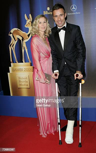TV host Kai Pflaume and his wife Ilke attend the 58th annual Bambi Awards at the MercedesBenz Museum on November 30 2006 in Stuttgart Germany Bambi...