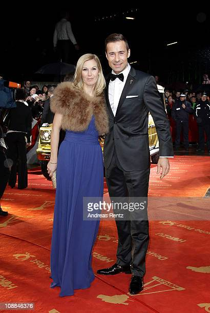 TV host Kai Pflaume and wife Ilke attend the 46th Golden Camera awards at the Axel Springer Haus on February 5 2011 in Berlin Germany