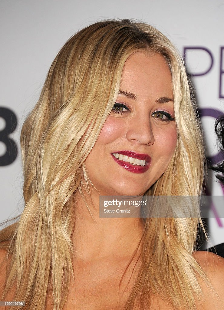 Host Kaley Cuoco onstage during the 2013 People's Choice Awards at Nokia Theatre L.A. Live on January 9, 2013 in Los Angeles, California.