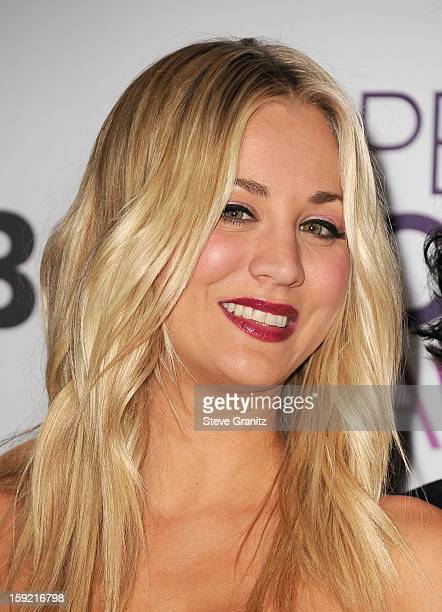 Host Kaley Cuoco onstage during the 2013 People's Choice Awards at Nokia Theatre LA Live on January 9 2013 in Los Angeles California