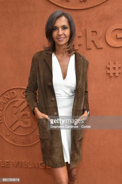 Host Karine Le Marchand attends the 2017 French Tennis Open Day Height at Roland Garros on June 4 2017 in Paris France
