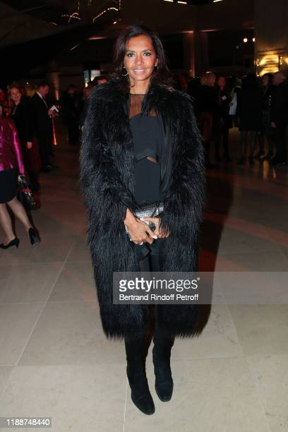TV host Karine Le Marchand attends the Grand Dinner of the Louvre on November 19 2019 in Paris France
