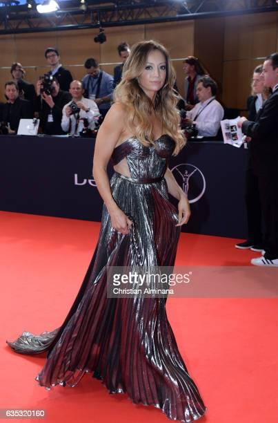Host Kate Abdo attends the 2017 Laureus World Sports Awards at the Salle des EtoilesSporting Monte Carlo on February 14 2017 in Monaco Monaco
