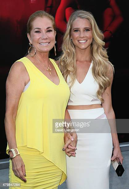 TV host Kathie Lee Gifford and daughter actress Cassidy Gifford attend the premiere of New Line Cinema's The Gallows at Hollywood High School on July...