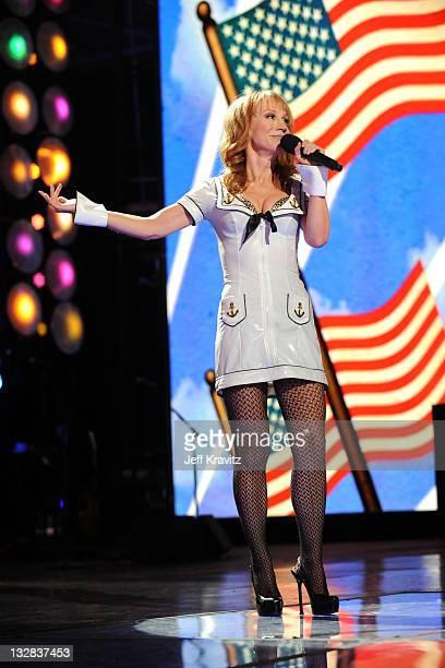 Host Kathy Griffin performs onstage during 'VH1 Divas Salute the Troops' presented by the USO at the MCAS Miramar on December 3 2010 in Miramar...