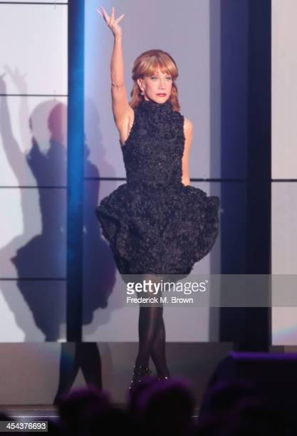 Host Kathy Griffin speaks onstage at 'TrevorLIVE LA' honoring Jane Lynch and Toyota for the Trevor Project at Hollywood Palladium on December 8 2013...