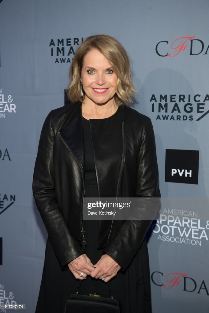 Host Katie Couric arrives at the American Apparel & Footwear Association's 40th Annual American Image Awards on 2018 on April 16, 2018 in New York City.