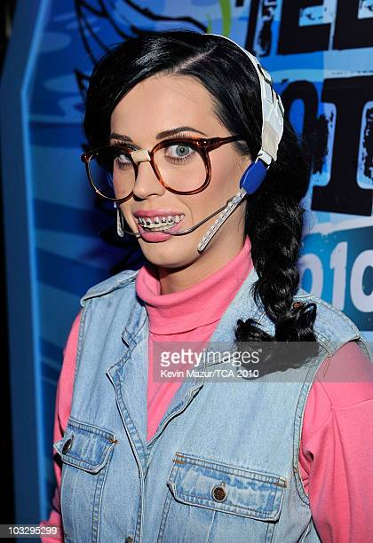 Host Katy Perry attends the 2010 Teen Choice Awards at Gibson Amphitheatre on August 8 2010 in Universal City California