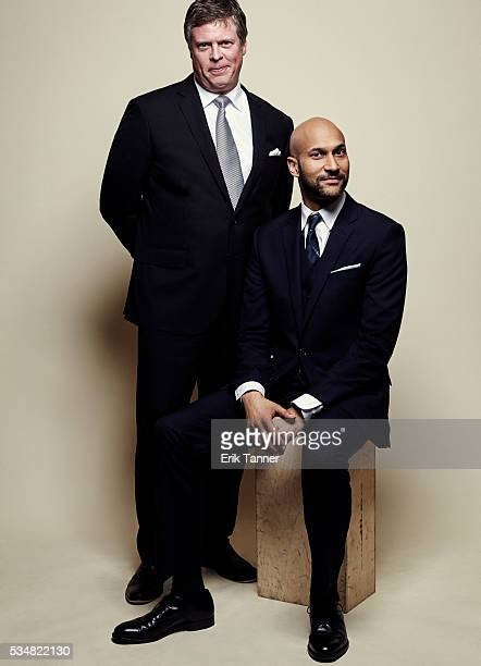 Host Keegan-Michael Key and director, George Foster Peabody Awards, University of Georgia, Dr. Jeffrey P. Jones pose for a portrait at the 75th...