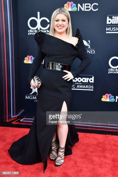 Host Kelly Clarkson attends the 2018 Billboard Music Awards at MGM Grand Garden Arena on May 20 2018 in Las Vegas Nevada