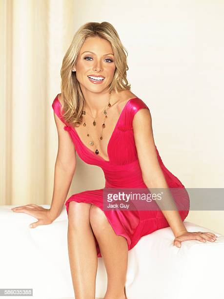 TV host Kelly Ripa is photographed for Redbook Magazine in 2005 in Los Angeles California COVER IMAGE
