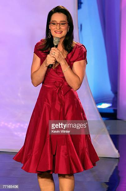 Host Kennedy speaks onstage during the 2007 Fox Reality Channel Really Awards held at Boulevard 3 on October 2 2007 in Hollywood California