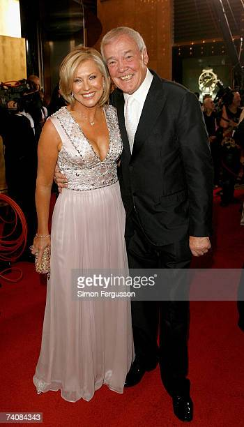 TV host KerriAnne Kennerley and her husband John arrive at the 2007 TV Week Logie Awards at the Crown Casino on May 6 2007 in Melbourne Australia The...