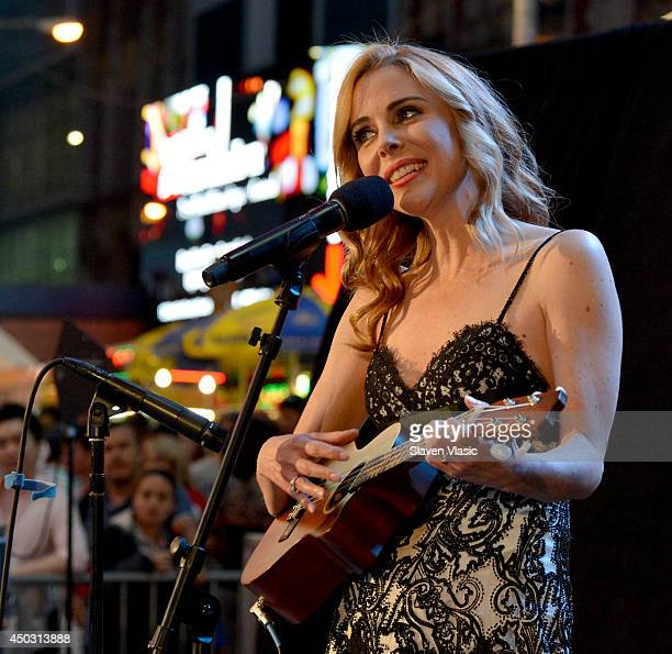 Host Kerry Butler performs onstage during the 68th Annual Tony Awards Times Square Simulcast at Times Square on June 8 2014 in New York City