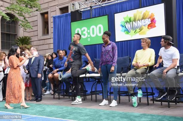 Host Kerry Feirman Serena Williams Rafael Nadal Nick Kyrgios Venus Williams Alexander Zverev and Mischa Zverev attend 2018 Lotte New York Palace...
