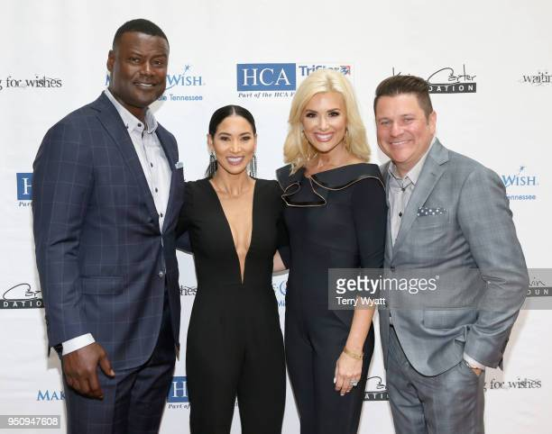 Host Kevin Carter Sema Carter Allison Alderson and host Jay DeMarcus attend the 17th annual Waiting for Wishes celebrity dinner at The Palm on April...