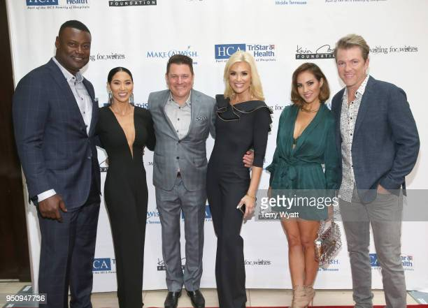 Host Kevin Carter Sema Carter host Jay DeMarcus Allison Alderson model Tiffany Fallon and Joe Don Rooney of musical group Rascal Flatts attend the...