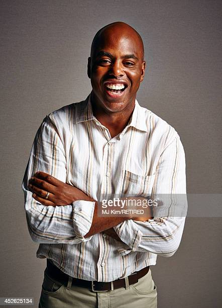 TV host Kevin Frazier poses for a portrait at Getty Images Portrait Studio powered by Samsung Galaxy at ComicCon International 2014 at Hard Rock...