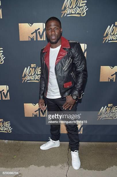 Host Kevin Hart attends the 2016 MTV Movie Awards at Warner Bros Studios on April 9 2016 in Burbank California MTV Movie Awards airs April 10 2016 at...
