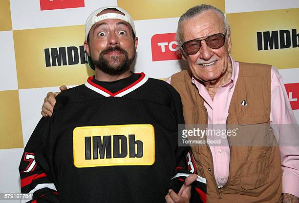 Host Kevin Smith and writer Stan Lee attend the IMDb Yacht Party Presented By TCL at on July 22 2016 in San Diego California