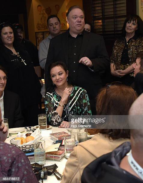 Host Kirt Webster and Recording Artist Crystal Gayle attend Webster Public Relations Unofficial KickOff CRS Event Legendary Lunch at The Palm...