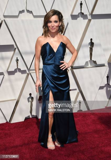TV host Kit Hoover arrives for the 91st Annual Academy Awards at the Dolby Theatre in Hollywood California on February 24 2019