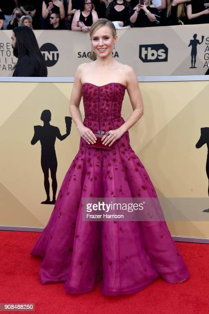 Host Kristen Bell attends the 24th Annual Screen ActorsGuild Awards at The Shrine Auditorium on January 21 2018 in Los Angeles California