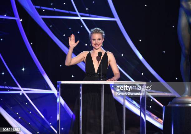 Host Kristen Bell onstage during the 24th Annual Screen ActorsGuild Awards at The Shrine Auditorium on January 21 2018 in Los Angeles California