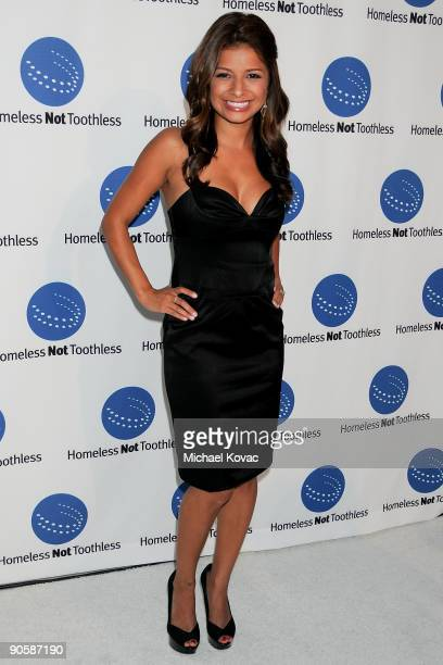 Host Kristina Guerrero arrives at 'A Smile For Every Child Gala' at Hotel ShangriLa on September 10 2009 in Santa Monica California