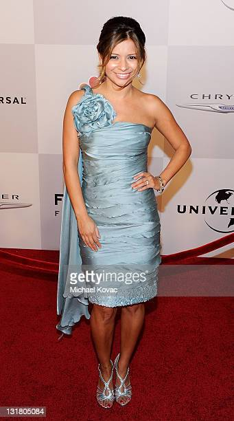 TV host Kristina Guerrero arrives at NBC Universal's 68th Annual Golden Globes After Party at The Beverly Hilton Hotel on January 16 2011 in Beverly...
