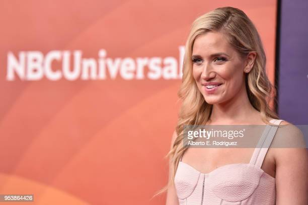 TV host Kristine Leahy attends NBCUniversal's Summer Press Day 2018 at The Universal Studios Backlot on May 2 2018 in Universal City California