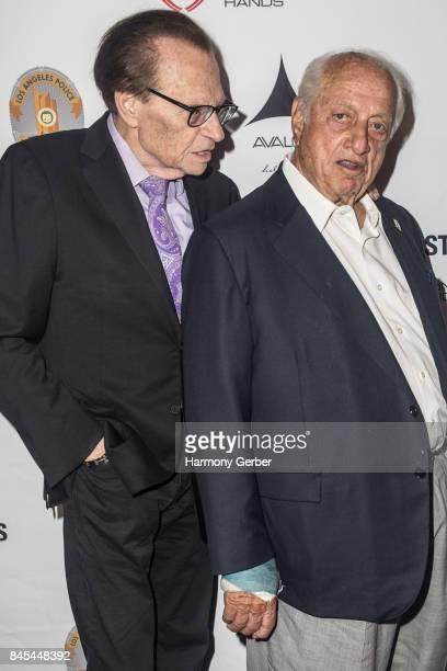 Host Larry King and Baseball Hall of Famer Tommy Lasorda at Avalon on September 10, 2017 in Hollywood, California.