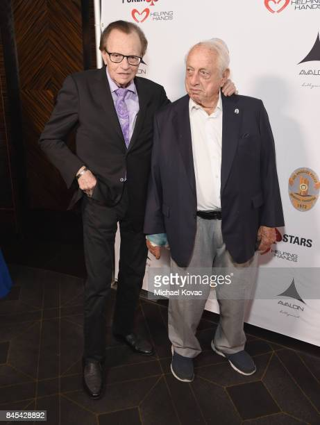 Host Larry King and baseball Hall of Famer Tommy Lasorda at the Heroes for Heroes: Los Angeles Police Memorial Foundation Celebrity Poker Tournament...