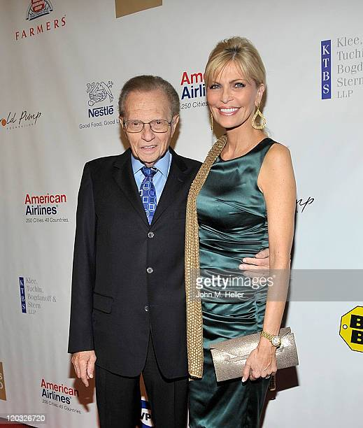TV Host Larry King and singer Shawn King attend the 11th Annual Harold Pump Foundation Gala at the Hyatt Regency Century Plaza Hotel on August 3 2011...