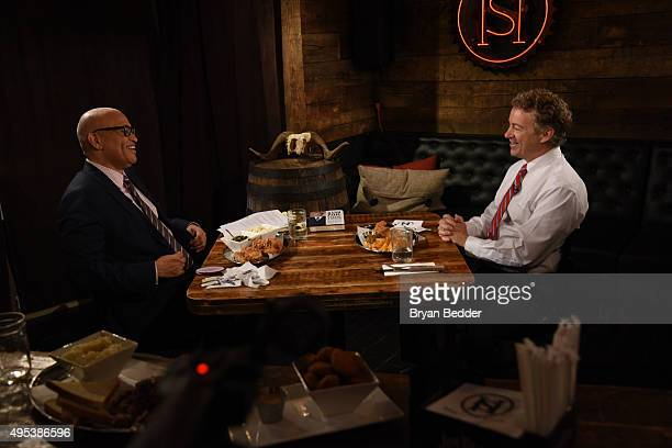 "Host Larry Wilmore speaks with Republican candidate Senator Rand Paul on Comedy Central's ""The Nightly Show With Larry Wilmore"" Soul Food Sit Down on..."