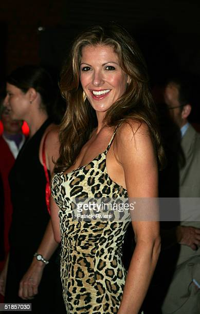TV host Laura Csortan attends a private party organised to introduce the new Virgin Atlantic airline venture between London and Sydney at Wharf 3...