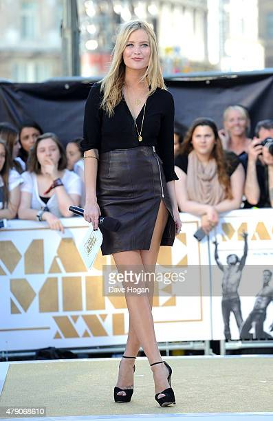 Host Laura Whitmore attends the European Premiere of 'Magic Mike XXL' at Vue West End on June 30 2015 in London England