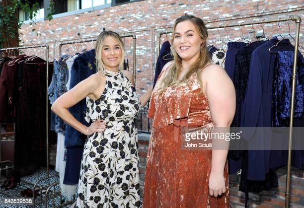 Host Lauren Conrad and Loey Lane attend Lauren Conrad and Kohl's third runway collection Girls' Night Out party at Beauty Essex on September 6 2017...