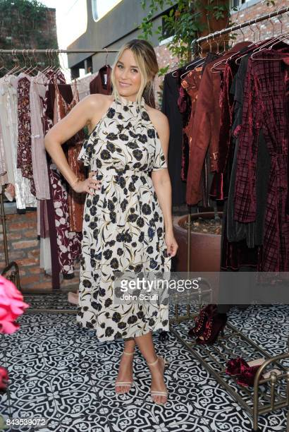 Host Lauren Conrad attends Lauren Conrad and Kohl's third runway collection Girls' Night Out party at Beauty Essex on September 6 2017 in Los Angeles...