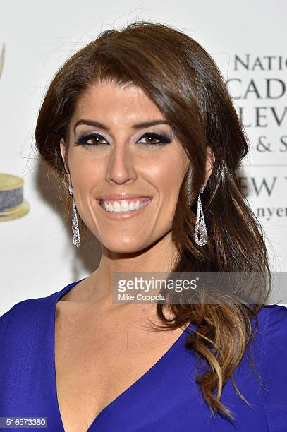 TV host Lauren Scala attends the 59th annual New York Emmy Awards at Marriott Marquis Times Square on March 19 2016 in New York City