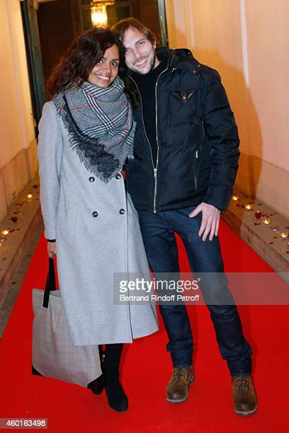TV host Laurence Roustandjee and Photo director Gregory Ferrie attend the Sarah Guetta Party in Paris for the first anniversary of the Hairdressing...