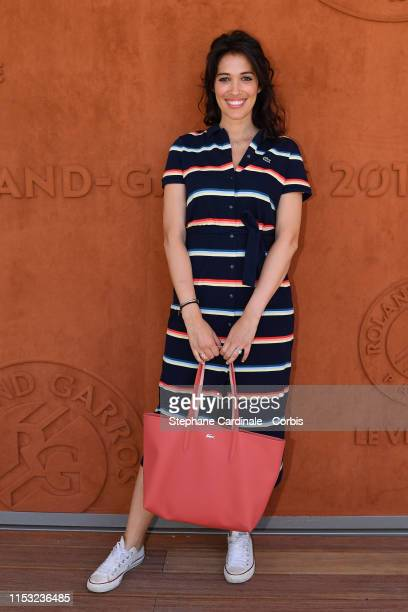 Host Laurie Cholewa attends the 2019 French Tennis Open - Day Eight at Roland Garros on June 02, 2019 in Paris, France.